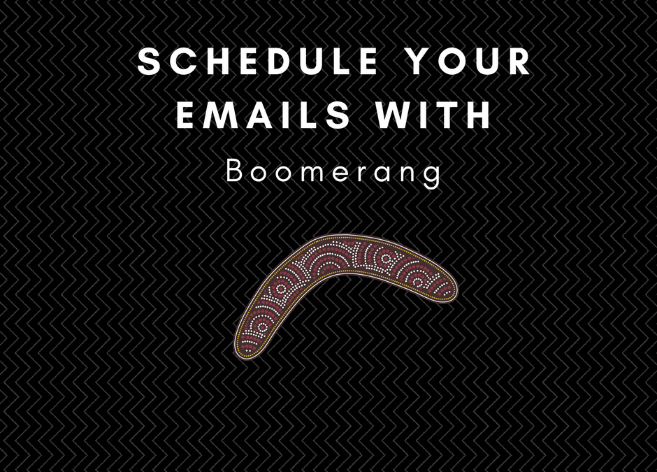 Boomerang, a different type of scheduling