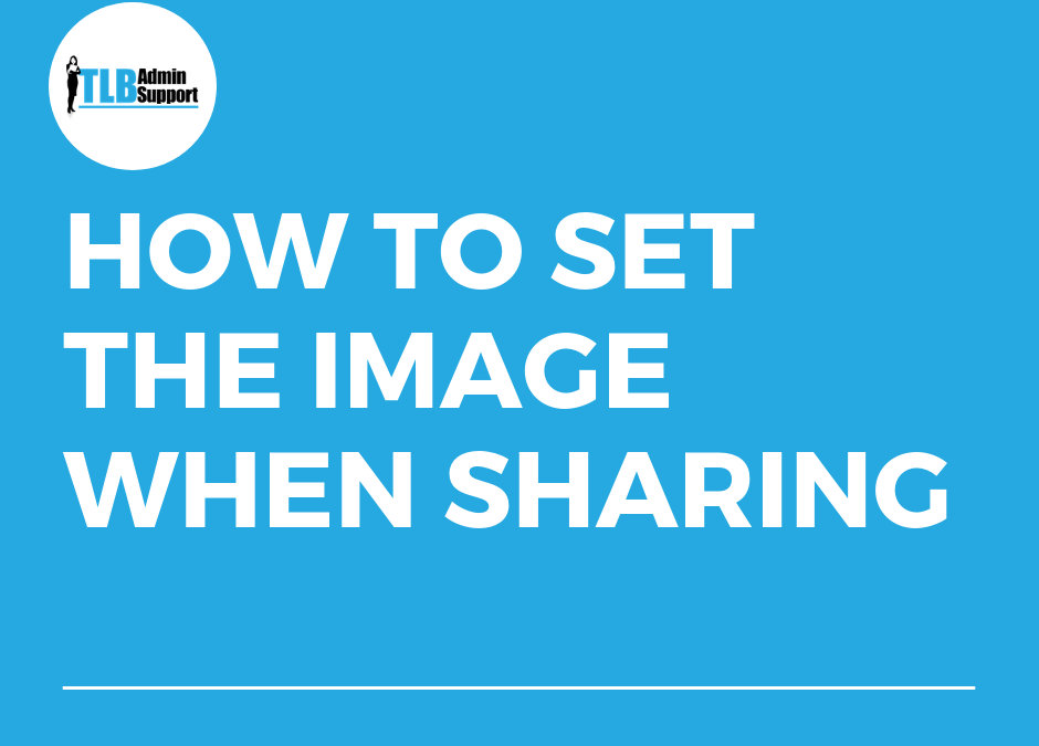 How to set the image when sharing